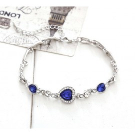 Titanic's Romantic Heart of Ocean Crystal Silver Plated Bracelet For Fashion People